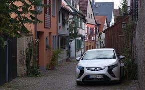 Электромобиль, Опель, Ампера, Opel, Ampera, зарядка, технологии, Германия, дома, улица
