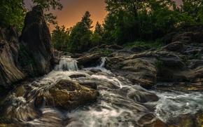 Fium'Altu, Castagniccia, Corsica, France, Корсика, Франция, река, речка, камни, деревья