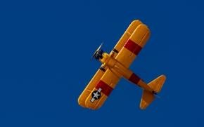biplane, plane, sky