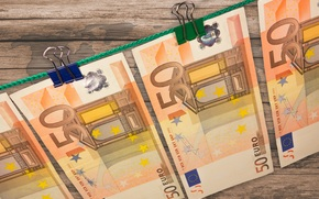 money, euros, bills, bill, note, currency, pin, rope