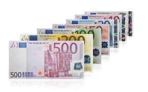 dinero, euros, billetes, proyecto de ley, nota, moneda, serie