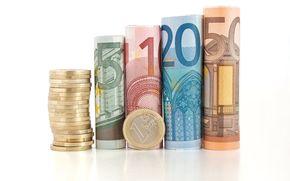 dinero, Los billetes en euros, nota, moneda, monedas
