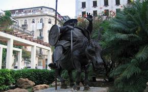 Havana, monumento, velho, Sancho Panza, Cuba