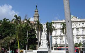 Cuba, Havana, area, monument, José Martí, hotel