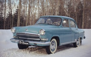 car, Car, machine, ussr, Gas-21, gas, 21, Volga, winter, snow, trees