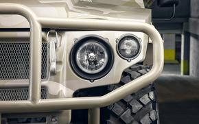 ГАЗ-2330, Тигр, гражданская, версия, российский, многоцелевой, повышенной, проходимости, бронеавтомобиль, внедорожник, фара, фары, передние, левые, размытость