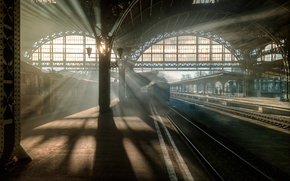 Vitebsk, railway station, petersburg, Leningrad, Petrogad, Peter, Russia, morning, light, train, car, path, IRON, road