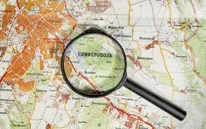 R?ssia, mapa, Crim?ia, lupa, Simferopol
