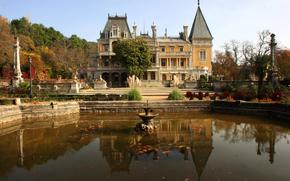 Russia, Massandra, palazzo, Yalta, FONTANA