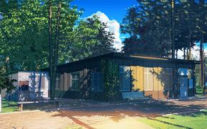 Endless Summer, papel de parede, biblioteca, acampamento de verão, URSS