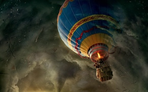 aria, palla, tornado, Avventure, uomo, Cilindro