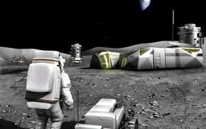 base, projeto, Sat?lite, esta??o, lua, terra, espa?o, homem, terreno, SUPERF?CIE, Estrela, aparelho, Ve?culo cross-country