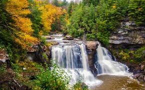 jesień, rzeka, wodospad, Rocks, dess, drzew, charakter