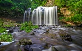 Cascade Falls, Osceola, Wisconsin, Osceola Creek, Оцеола, Висконсин, водопад, каскад, ручей