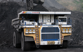 BELAZ, 75600, Dump, machine, quarry, bucket, ore, breed, coal, mining, Useful, resources, subsoil