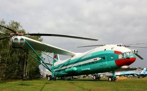 Mi-12, helicopter, Miles, ussr, blades, Screws, aeroflot