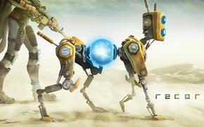 Recore, robot, chica, arena, desierto