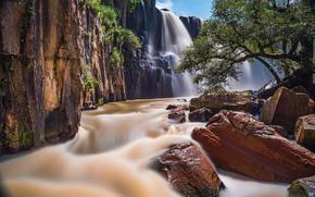 Cascada de la Concepcion, Aculco, Mexico, Akulka, Mexico, waterfall, cascade, river, stones