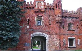 Brest, fortaleza, cidade, Brest, Bielo-Rússia, Belarus, URSS, portão