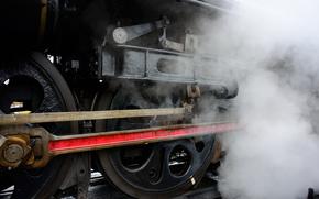 train, locomotive, steam, RAILS, wheel
