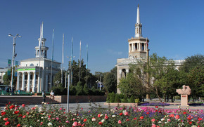Bishkek, Kyrgyzstan, area, architecture, monument, home, city