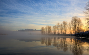 Misty Morning Mountain, Pitt Meadows, British Columbia, Canada