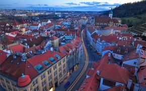 Prague, city, the bell tower of St. Nicholas, czech republic