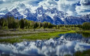 Schwabacher Landing, Grand Teton National Park, Jackson Hole, Wyoming, USA