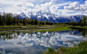 Schwabacher Landing, Grand Teton National Park, Jackson Hole, Wyoming, USA