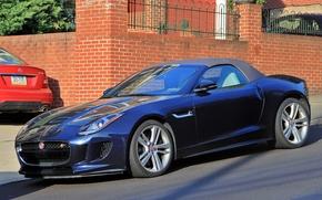 Jaguar F-Type Roadster, Jaguar, Roadster, sports car, дорога, улица