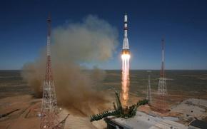 Ракета, старт, Байконур, космодром, Казахстан, Россия, Роскосмос, космос, наука, техника