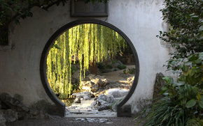 Yu Garden, Garden of Joy, Moon Gate, Shanghai, China, garden, park, city
