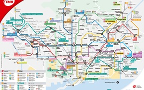 map, plan, scheme, metro, city, barcelona