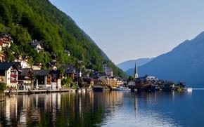 Hallstatt, Austria, Lago di Hallstatt, Alpi, Hallstatt, Austria, Lago di Hallstatt, Alpi, lago, Montagne, domestico