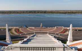Nizhny Novgorod, Bitter, Russia, embankment, river, Volga, city