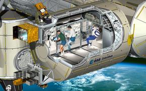 МКС, модуль, Колумбус, космос, Земля, орбита, станция, наука, техника, люди, ЕКА, ESA