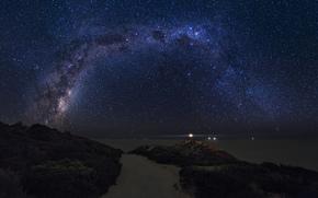 Космос, звезды, ночь, пространство, Млечный Путь