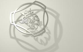 Scania_logo, Scania, Grifo, Logo en venta, 3D logotipo de Scania.