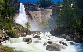 Nevada cade, Yosemite National Park, California. Stati Uniti d'America