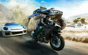 The Crew: Wild Run, race, motorcyclist, machinery