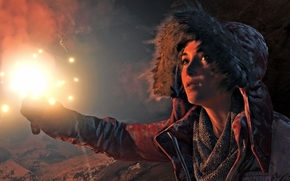 Rise of the Tomb Raider, Tomb Raider, Lara Croft, girl, torch
