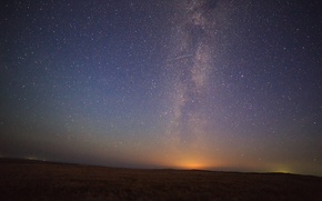 campo, cielo, erba, notte, Stella, natura, spazio, paesaggio