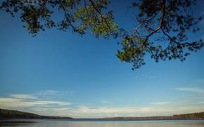 SPRING, Vysokinsky, lake, Leningrad, area, Russia, forest, sky, nature, landscape