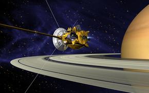 Миссия, Кассини-Гюйгенс, космический, аппарат, Сатурн, планета, кольца, космос, звёзды, наука