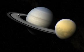 Saturn, Satellites, titanium, Enceladus, Star, space, science