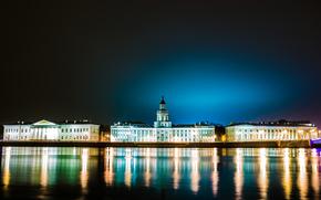 Санкт-Петербург, Ленинград, Питер, Россия, река, Нева, ночь, город