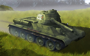 tank, T-34-85, weapon, ussr, May 9, victory, 1945