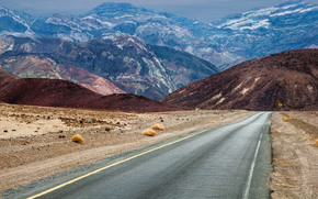 Death Valley National Park, road, Mountains, landscape