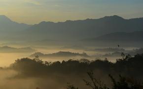 Sabah, Malesia, Montagne, cielo, alberi, natura, paesaggio
