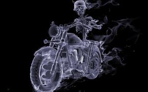 fuego, fumar, Biker